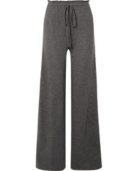 The Row Elisia Cashmere Blend Wide Leg Pants