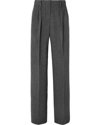 Max Mara Pleated Camel Hair Wide Leg Pants