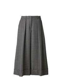 Jil Sander Navy Wide Leg Cropped Pants