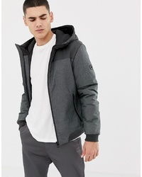 Esprit Blouson Jacket With Hood In Grey Colour Block