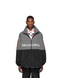 Balenciaga Grey Logo Zip Up Jacket
