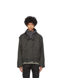 Blackmerle Khaki Hoodie Jacket