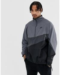 Nike Vaporwave Swoosh Half Zip Jacket In Grey