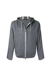 Ermenegildo Zegna Zipped Hooded Jacket