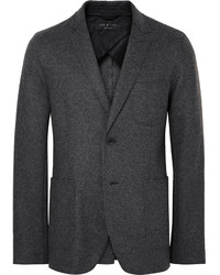 rag & bone Charcoal Woodall Slim Fit Unstructured Wool Blend Blazer