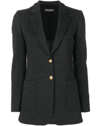Dolce & Gabbana Gold Button Blazer