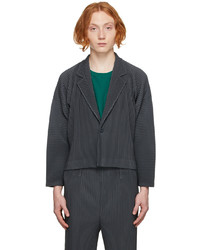 Homme Plissé Issey Miyake Grey Monthly Color July Blouson Jacket