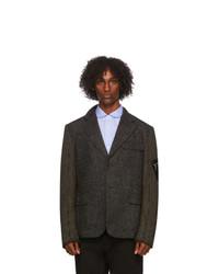 Junya Watanabe Grey Paneled Wool And Corduroy Jacket