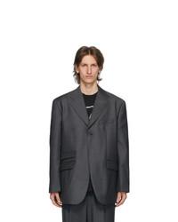 We11done Grey Single Breasted Blazer