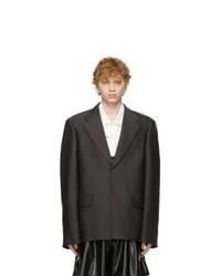 We11done Grey Wool Basic Blazer