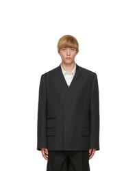 Maison Margiela Grey Wool Covert Blazer