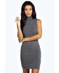 Boohoo Lydia Turtle Neck Jersey Bodycon Dress