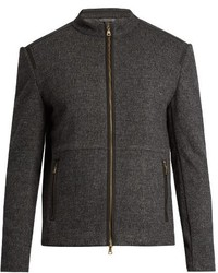 Charcoal Wool Bomber Jacket
