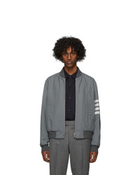 Thom Browne Grey Engineered Blouson Bomber Jacket