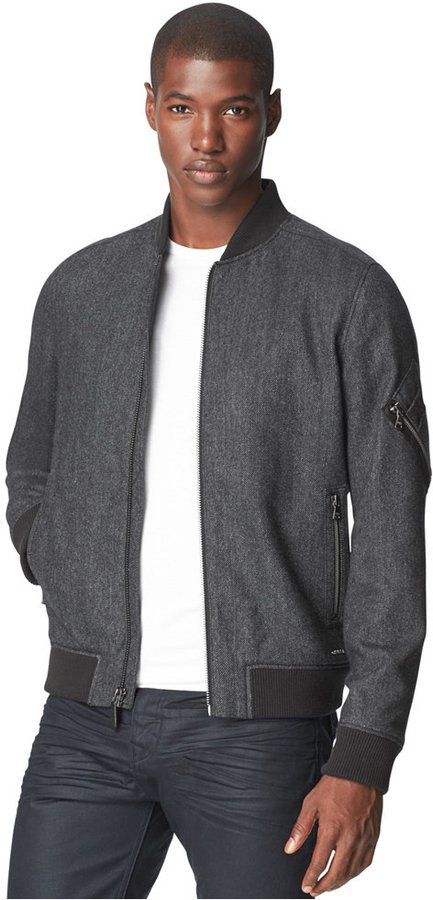 Calvin Klein Jeans Wool Blend Bomber Jacket   Where to buy & how ...