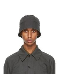 Lemaire Grey Navy Bucket Hat