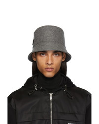 Prada Grey Triangle Logo Bucket Hat
