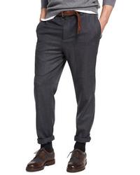 Brunello Cucinelli Para Wool Cargo Pants Dark Gray