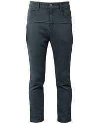 Charcoal Wool Chinos