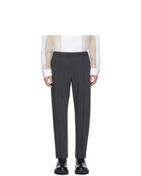 Helmut Lang Grey Crushed Pull On Trousers