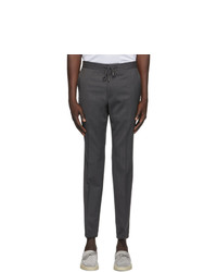 Z Zegna Grey Elastic Waist Dress Trousers