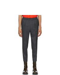 AMI Alexandre Mattiussi Grey Elasticated Waist Trousers