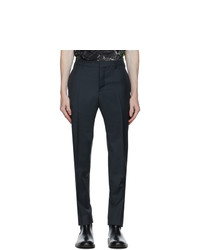Valentino Grey Wool And Mohair Pince Trousers