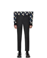 Prada Grey Wool Bicolor Trousers