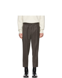 AMI Alexandre Mattiussi Grey Wool Cropped Trousers