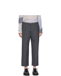 Oamc Grey Wool Drawcord Trousers