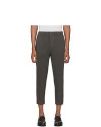 Homme Plissé Issey Miyake Grey Wool Like Light Trousers