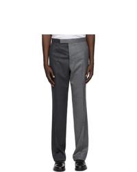 Thom Browne Grey Wool Super 120s Funmix Trousers
