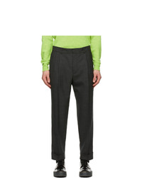 Acne Studios Grey Wool Tapered Trousers