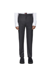 House Of The Very Islands Grey Wool Trade Slim Fit Trousers