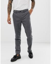 Pier One Wool Tailored Trouser In Grey