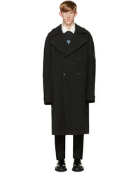 Yang Li Grey Wool Dbf Big Coat