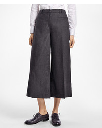Brooks Brothers Wool Blend Flannel Wide Leg Culottes