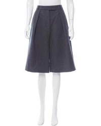Dries Van Noten Wool Pleated Culottes