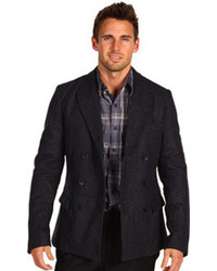 Shades of Grey Double Breasted Wool Blazer