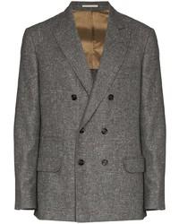 Brunello Cucinelli Double Breasted Wool Cashmere Blazer