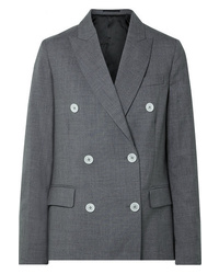 Golden Goose Deluxe Brand Misam Double Breasted Wool Crepe Blazer