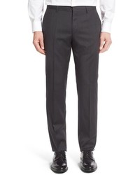 BOSS Genesis Flat Front Solid Wool Trousers