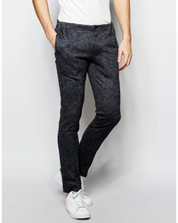 Asos Brand Super Skinny Suit Pants In Gray Texture