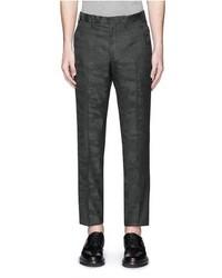 Neil Barrett Camouflage Jacquard Wool Hopsack Pants
