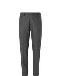 Boglioli Dark Grey Mlange Virgin Wool Suit Trousers