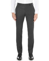 Joseph Dash Regular Fit Tapered Wool Flannel Trousers