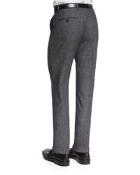 Paul Smith Donegal Wool Flat Front Trousers Gray