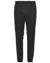 Gucci Elasticated Cuff Wool Blend Trousers