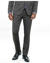 Express Extra Slim Gray Wool Blend Twill Suit Pant