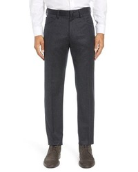 Incotex Five Pocket Solid Wool Trousers